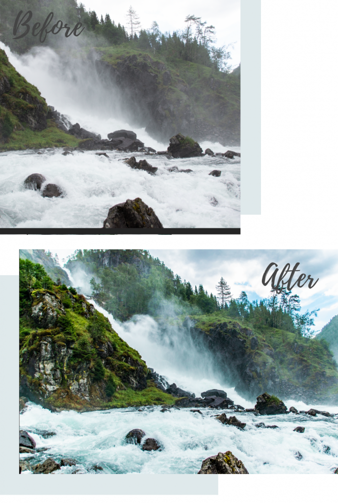 before after editing lightroom adobe noorwegen